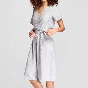 ea24e5638d4 a new day Pants - Women s Striped Short Sleeve Tie Waist Jumpsuit